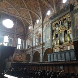 Sección donde escuchaban la misa las religiosas, y el organo