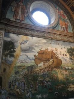 un fresco del arca de Noe